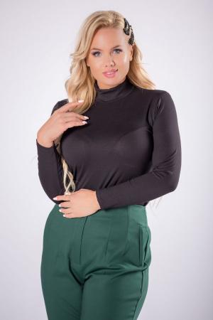 Pantaloni eleganti croi clasic cu pense verde2