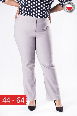 Pantaloni eleganti marimi mari gri0
