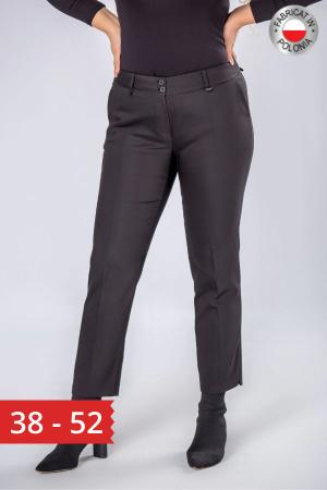 Pantaloni negri eleganti cu talie inalta0