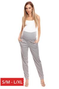 Pantaloni pentru gravide Simina gri0