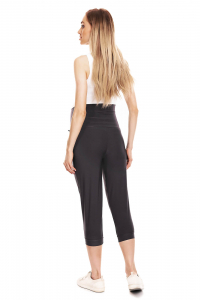 Pantaloni trei sferturi gravide Corina gri inchis2