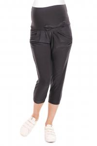 Pantaloni trei sferturi gravide Corina gri inchis3