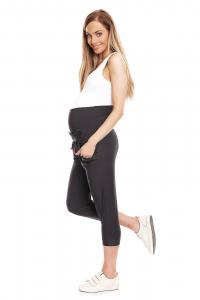 Pantaloni trei sferturi gravide Corina gri inchis1