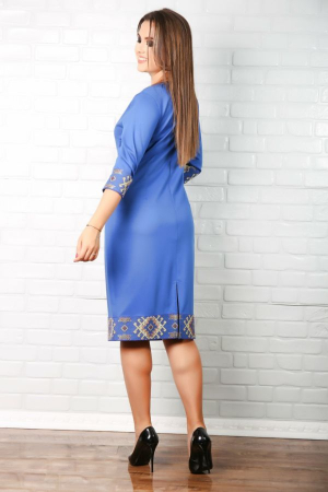 Rochie albastra stilizata cu elemente traditionale [1]