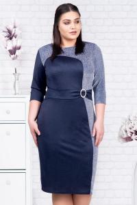 Rochie albastra eleganta de ocazie Henrieta2