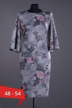 Rochie casual cu imprimeu floral Melania, gri0