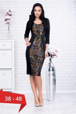 Rochie neagra casual imprimeu fluturi Ania