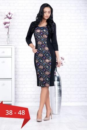 Rochie neagra casual cu imprimeu Ania