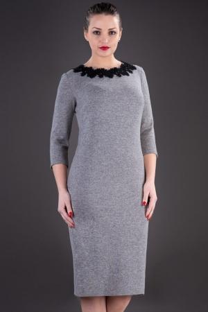 Rochie casual de zi din tricot Penelope, gri1