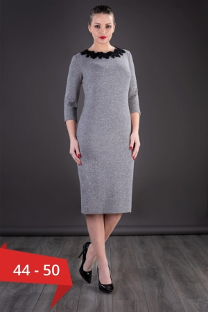 Rochie casual de zi din tricot Penelope, gri0