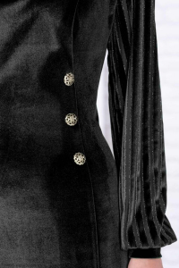 Rochie catifea neagra cu fir lame Isabela2