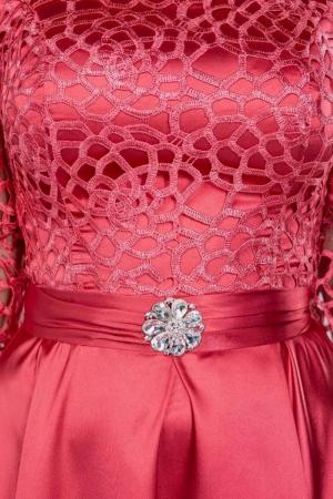 Rochie dantela rosie Sidonia2