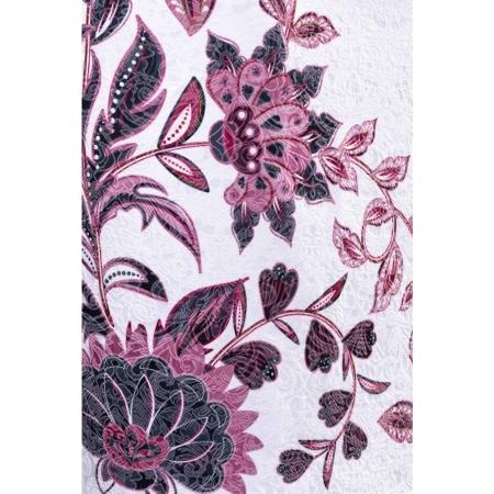 Rochie de ocazie cu imprimeu floral Cristina, alb3