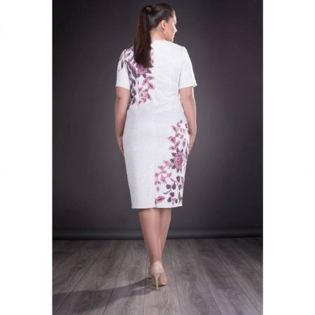Rochie de ocazie cu imprimeu floral Cristina, alb2