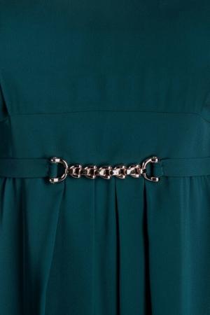 Rochie verde din voal marimi mari Lucinda2