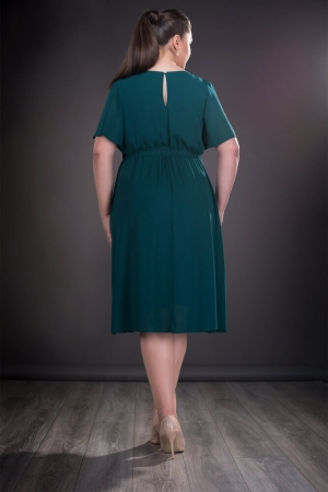 Rochie verde din voal marimi mari Lucinda1