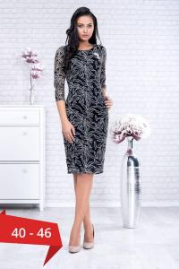 Rochie de ocazie midi din dantela neagra Paulina0