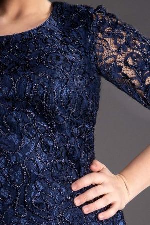 Rochie midi eleganta din dantela Marlo bleumarin3