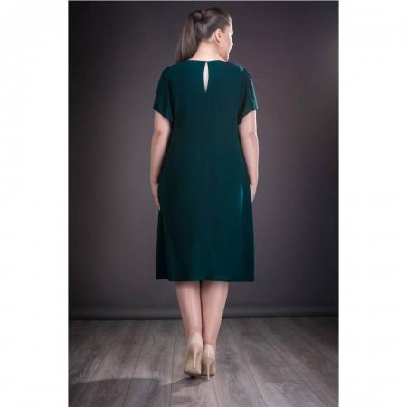 Rochie de seara din voal marimi mari Renata verde1