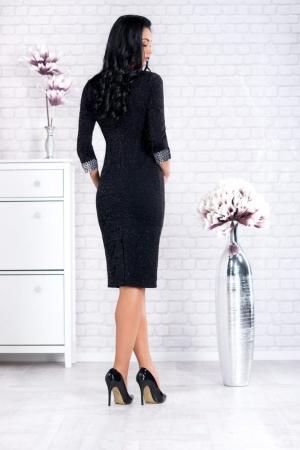 Rochie de seara marimi mari Amina, negru/argintiu1