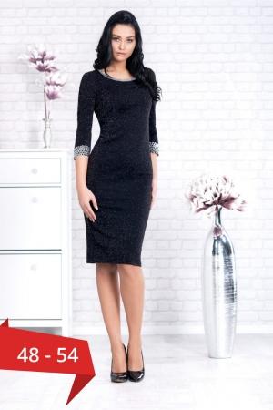 Rochie de seara marimi mari Amina, negru/argintiu0