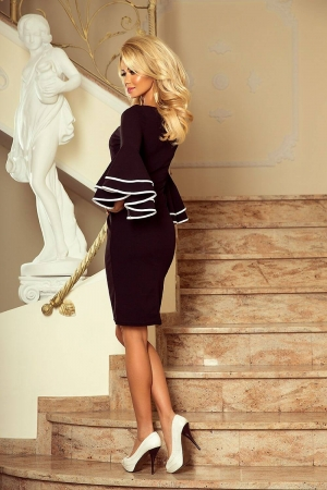 Rochie midi neagra eleganta de ocazie Carmen2