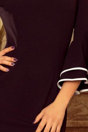 Rochie midi neagra eleganta de ocazie Carmen3