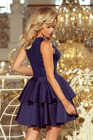 Rochie scurta eleganta de seara Alexis bleumarin2