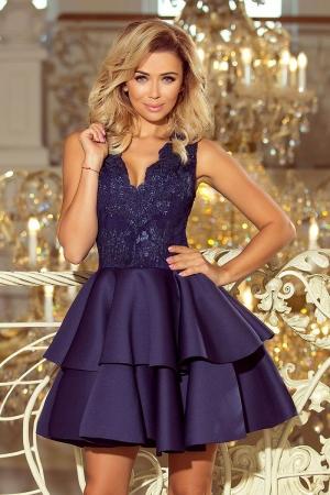 Rochie scurta eleganta de seara Alexis bleumarin1