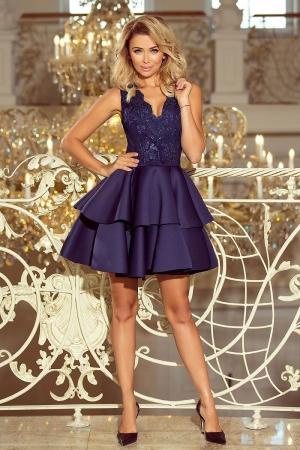 Rochie scurta eleganta de seara Alexis bleumarin0