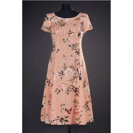 Rochie de zi cu imprimeu floral Silvia, piersica0