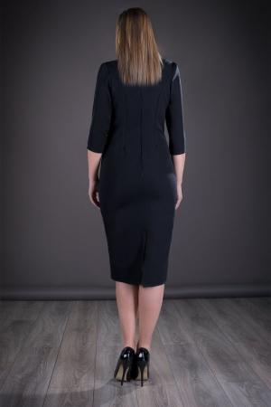 Rochie de zi cu imprimeu floral Vera, negru2