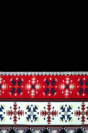 Rochie de zi cu motive traditionale Carmen, negru2