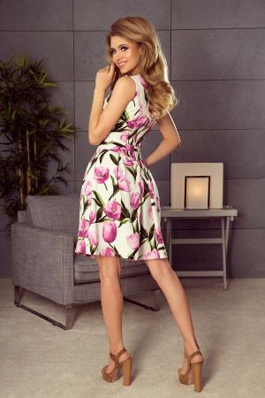 Rochie eleganta scurta cu imprimeu floral Marianne1