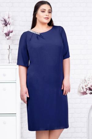 Rochie voal bleumarin pentru femei de 50 de ani - Marimi mari [1]