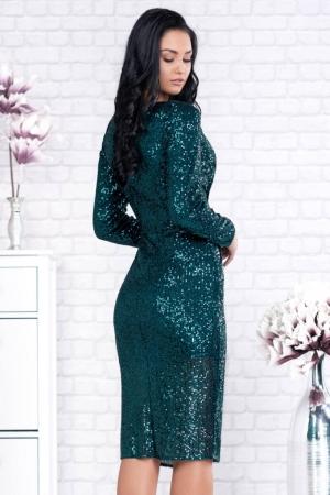 Rochie verde eleganta cu paiete Barbara1
