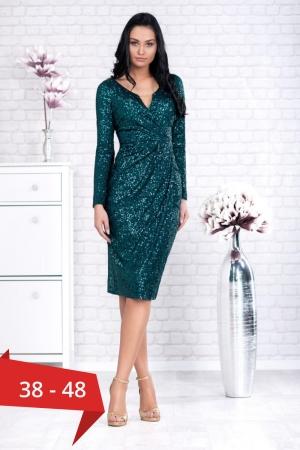 Rochie verde eleganta cu paiete Barbara0