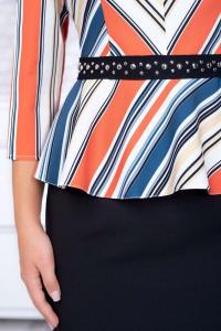 Rochie eleganta de zi cu peplum Candy, negru/multicolor2