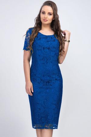 Rochie eleganta din dantela albastra Iulia - Marimi mari [1]