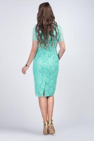 Rochie eleganta midi din dantela verde menta - Marimi mari [2]