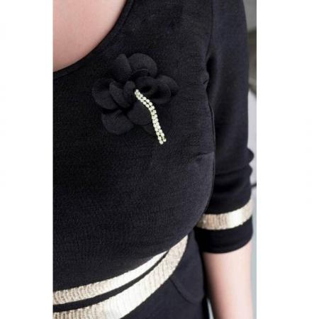 Rochie eleganta marimi mari Aniela, negru1