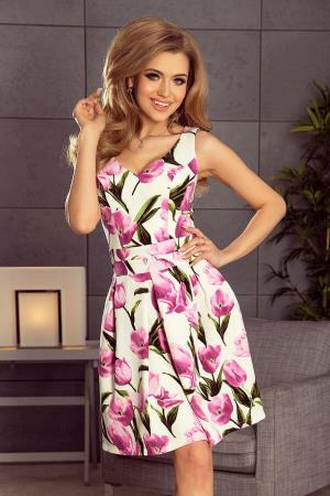 Rochie eleganta scurta cu imprimeu floral Marianne3