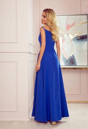 Rochie lunga de seara Chiara, albastru1