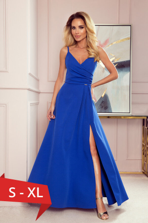 Rochie lunga de seara Chiara, albastru0