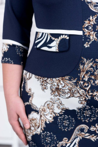 Rochie midi eleganta bleumarin Damira2