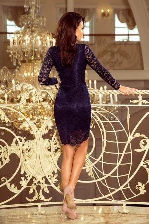 Rochii elegante din dantela - Rochie de ocazie din dantela bleumarin [2]