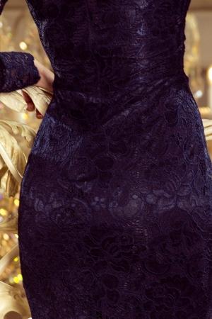 Rochii elegante din dantela - Rochie de ocazie din dantela bleumarin [3]