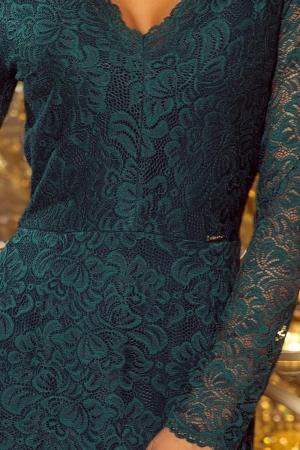 Rochie midi de seara din dantela Marina, verde3