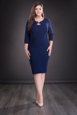 Rochie midi de zi cu accesorii Daria, bleumarin0