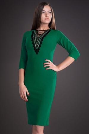 Rochie midi de zi cu accesorii Leila, verde1